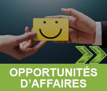 OPPORTUNITÉS D'AFFAIRES >>